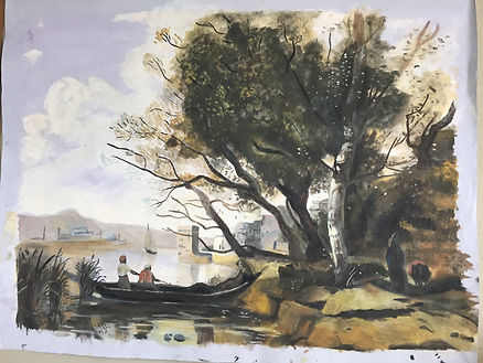 corot painting, scenic painting