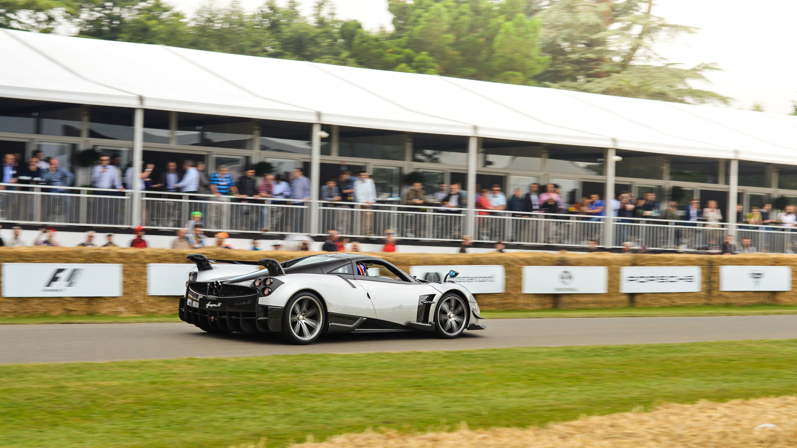Hurtling up the iconic Goodwood hillclimb earlier this year