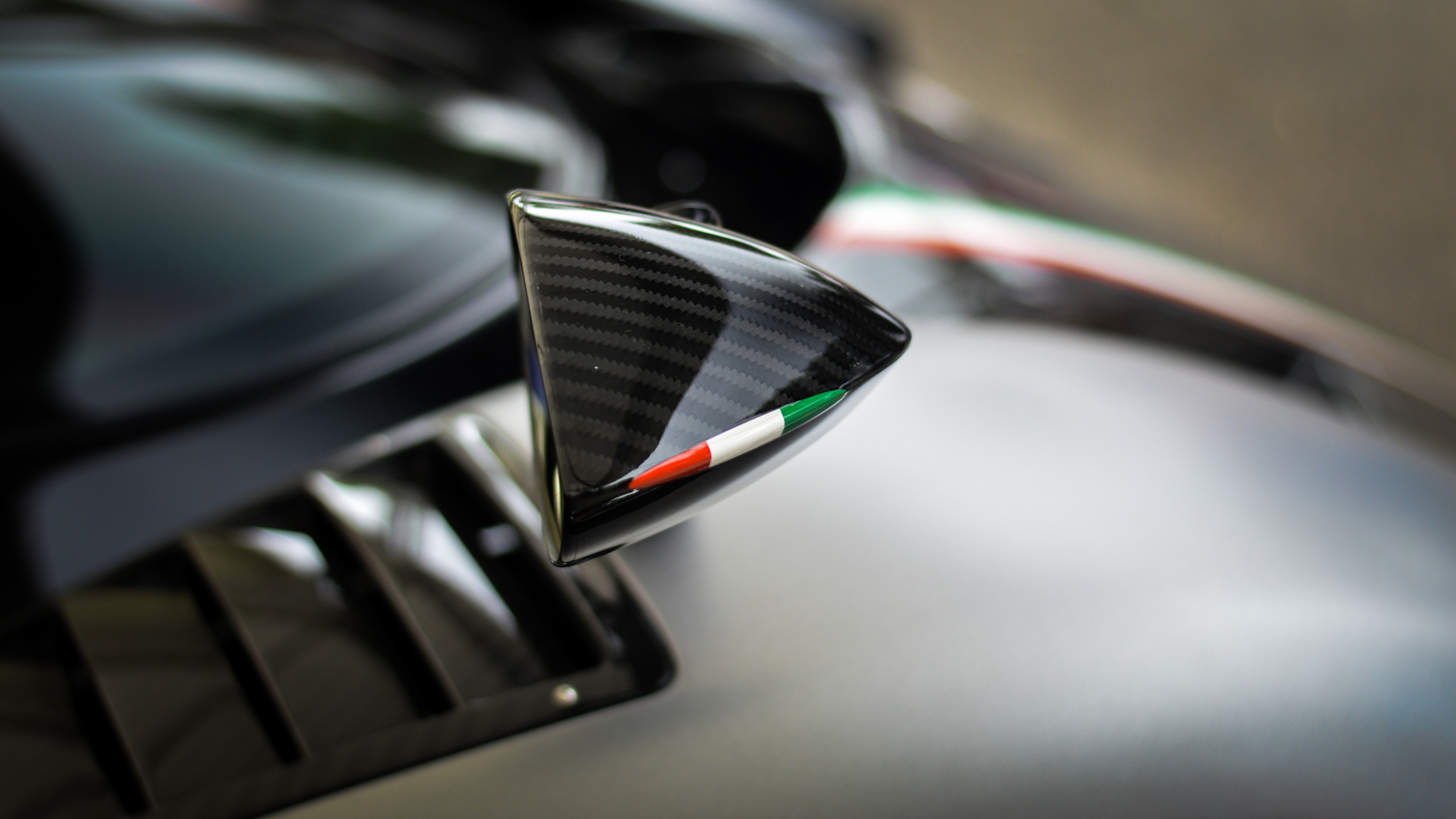 Pagani clearly took inspiration from natural forms, as shown by this raindrop shaped wing mirror