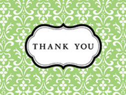42 Green/Black Thank You Cards
