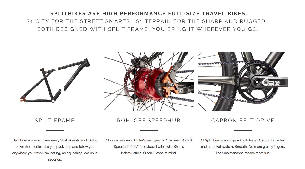 Spilt Bike自行車-形象網站