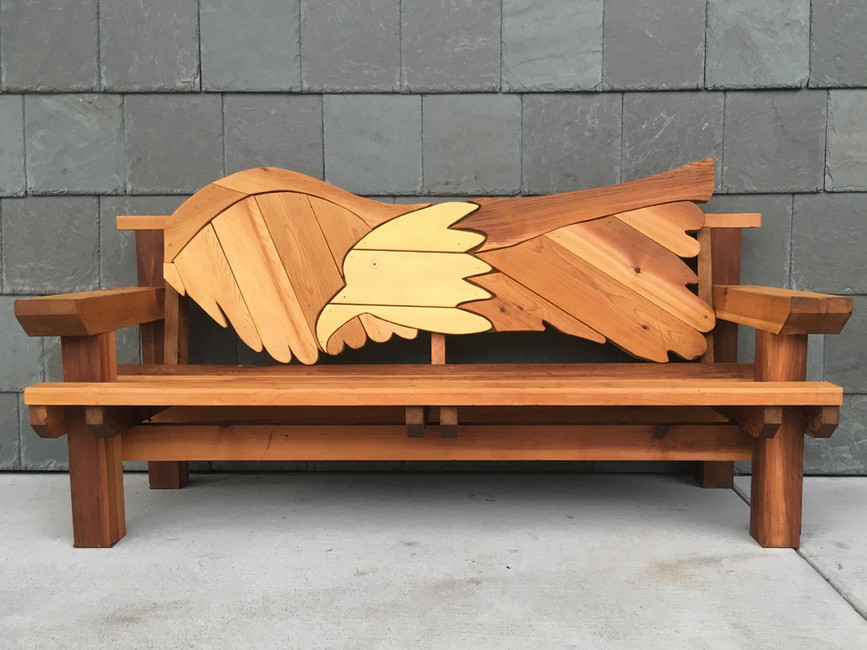 Ketchikan Public Library - Larry Jackson bench