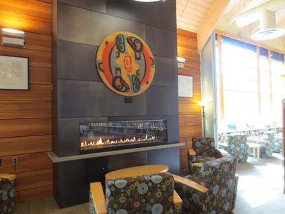 Ketchikan Public Library fireplace