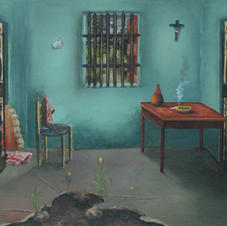 "Louverture Poisson o/b, 24""x30"", 1951"