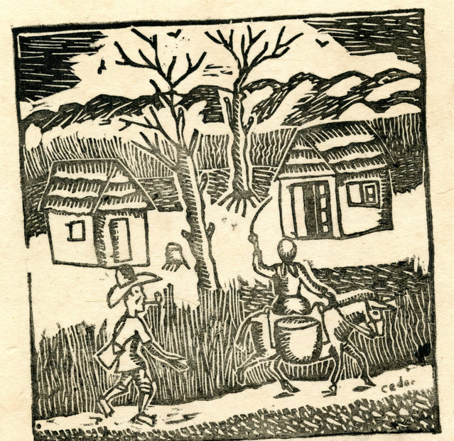 from 10 Original Woodcuts Signed by the Popular Painters of Haiti