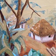 "Petion Savain aquarelle, 14""x19"", 1949"