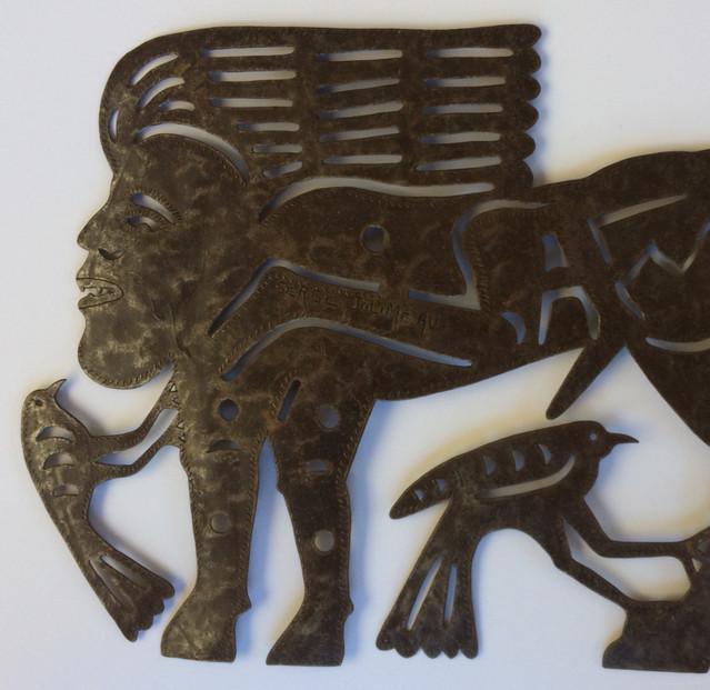 Mythological Creature with Embedded Female Image