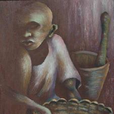 """Denis Emile o/c, 13""""x20"""", late 1950s"""