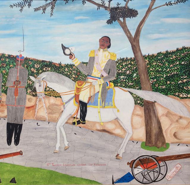 General Toussaint Louverture Visitant Une Forteresse