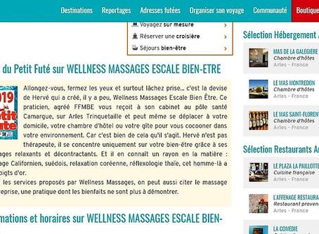"""Wellness Massages Arles:  Recommandé par le Guide """"LE PETIT FUTÉ 2019 """""""