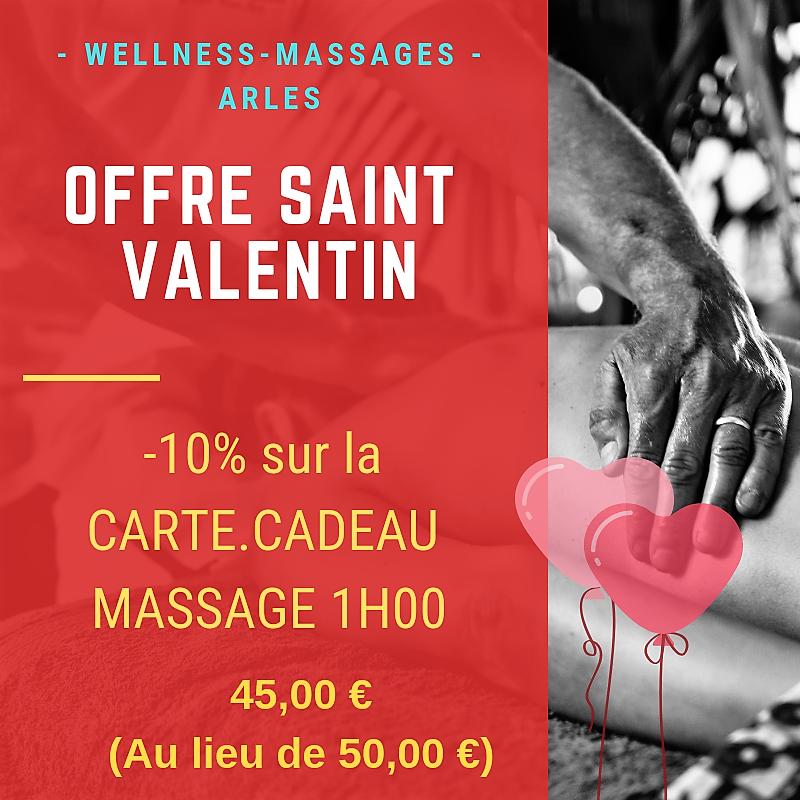 Offre Wellness-Massages Arles Spéciale Saint-Valentin
