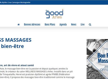 """Wellness Massages Arles:  Recommandé par le Guide """"THE GOOD ARLES 2019 """""""