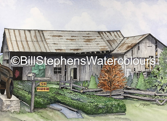 Original Watercolour Painting - Norfolk County Barn