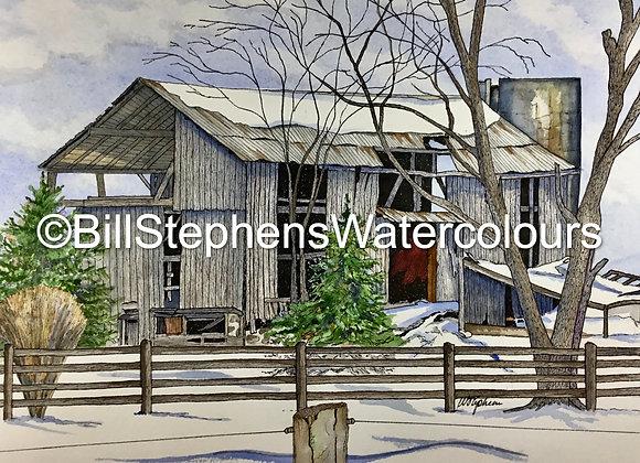 Original Watercolour Painting - Princeton area barn