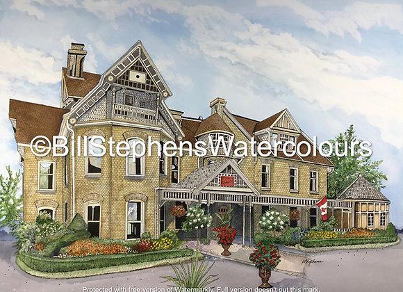 Original Watercolour Painting - Idlewyld Inn