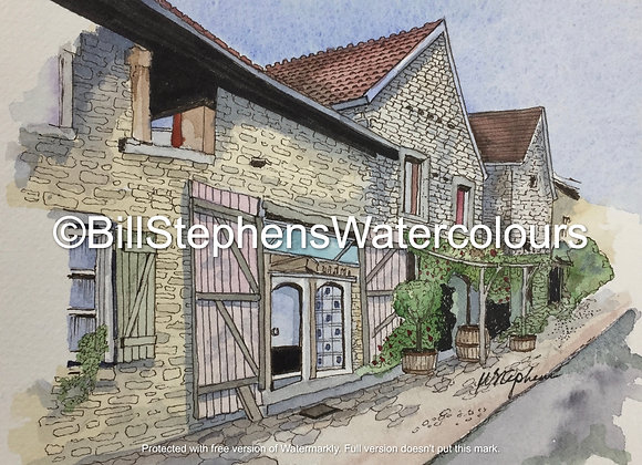 Original Watercolour Painting - Village in France