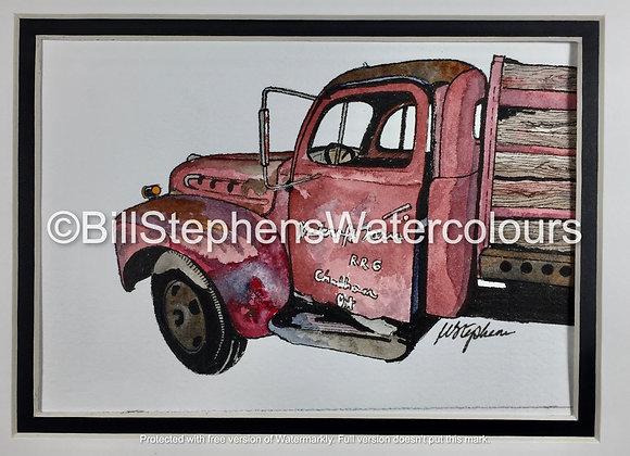 Original Watercolour Painting -1947 Dodge WF-21 1.5 Ton Truck
