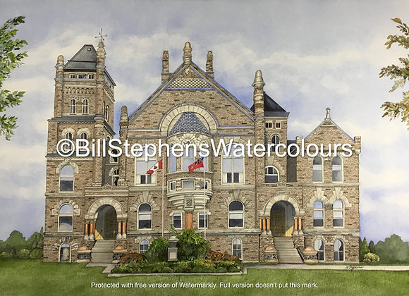 Original Watercolour Painting - Oxford County Courthouse