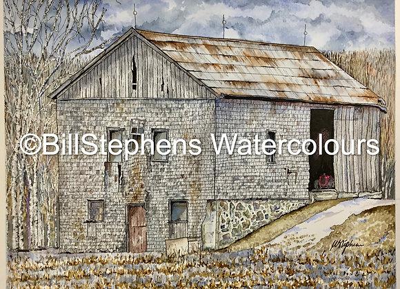 Original Watercolour Painting -Southwest Ontario Barn