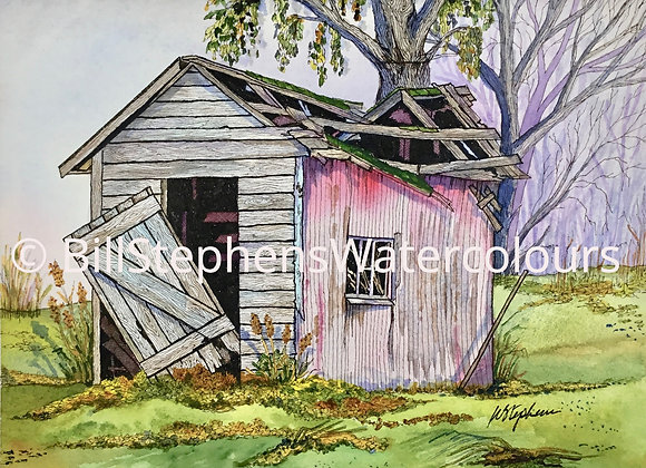 Original Watercolour Painting - Abandoned Shed