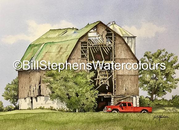 Original Watercolour Painting - Ilderton area barn