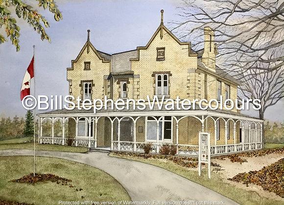 Original Watercolour Painting - Grosvenor Lodge (London)