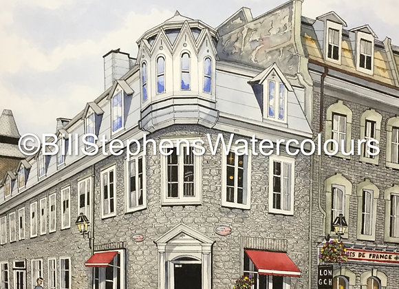Original Watercolour Painting - Québec City Street Scene
