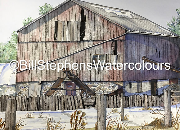Original Watercolour Painting - Zorra Township Barn