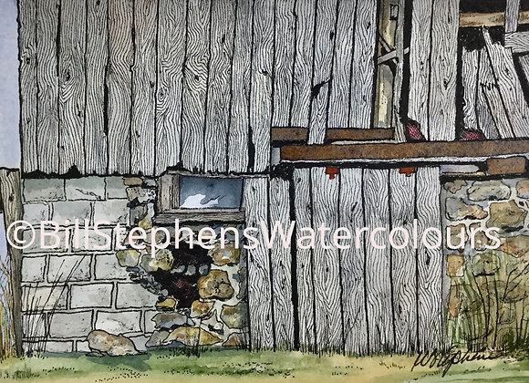 Original Watercolour Painting -Detailed Barn Painting