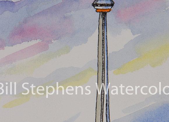 Original Watercolour Painting - CN Tower/ Toronto