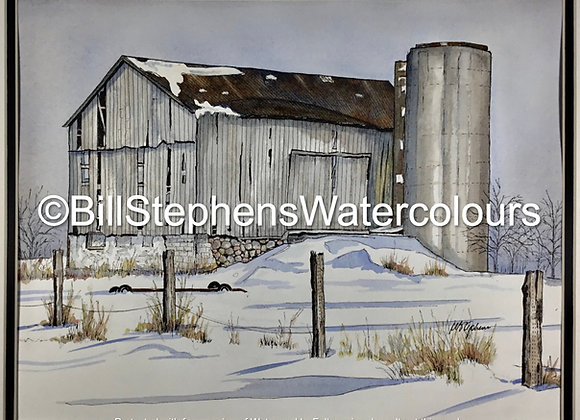 Original Watercolour Painting - Barn near St.Mary's, Ontario