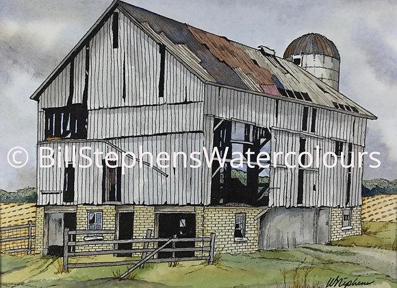 Original Watercolour Painting - Barn near Fullarton, Ontario