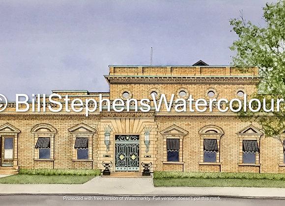 Original Watercolour Painting - Hiram Walker Distillery Office