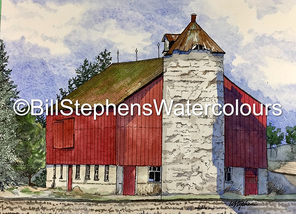 Original Watercolour Painting - Belmont area barn