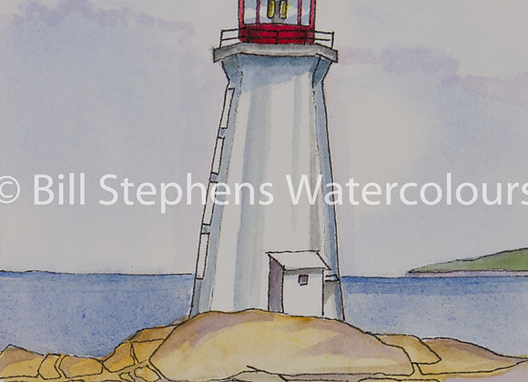 Original Watercolour Painting - Peggy's Cove Lighthouse