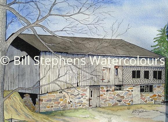 Original Watercolour Painting - Fullarton Barn