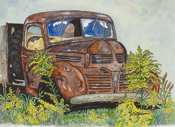 Original Watercolour Painting - Old Truck