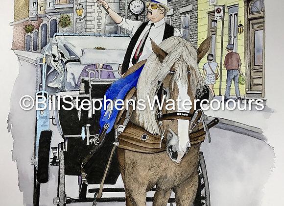 Original Watercolour Painting - The Tour Guide