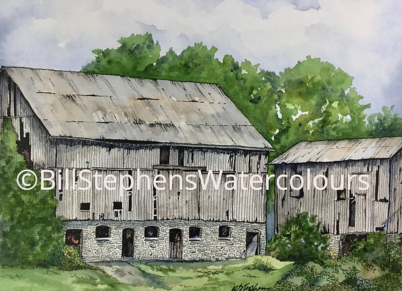 Original Watercolour Painting - Hamilton Barn