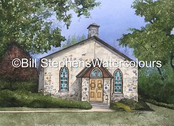 Original Watercolour Painting - Kilworth United Church