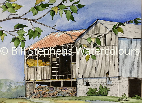 Original Watercolour Painting - Barn at Nissouri Road and Plover Mills