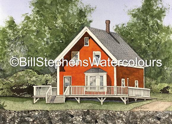 Original Watercolour Painting - House on Brier Island, Nova Scotia