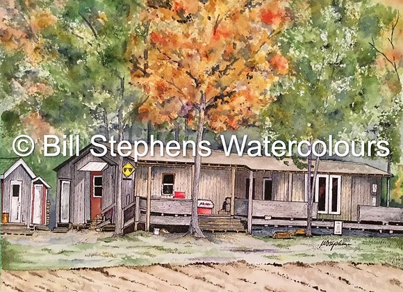 Original Watercolour Painting - Rob's Hunting Cabin