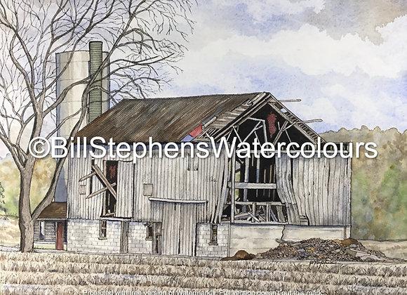 Original Watercolour Painting - Longwoods Road Barn