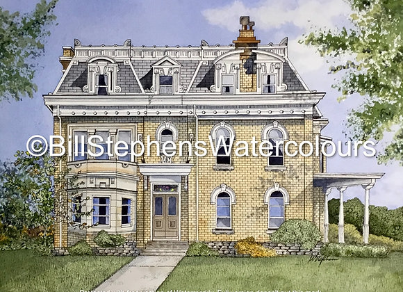 Original Watercolour  & Ink Painting - 518 Queens Avenue