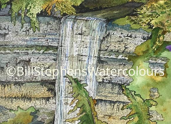 Original Watercolour Painting -Tew Falls