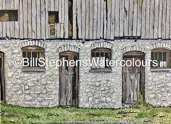 Original Watercolour Painting - Close up of Hamilton area barn