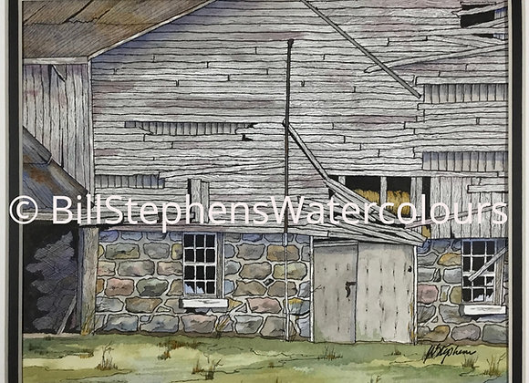 Original Watercolour Painting - Old Barn (Highway 401 @  Exit 216)