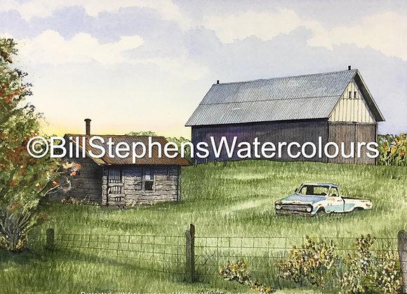 Original Watercolour Painting - Dunchurch area barn