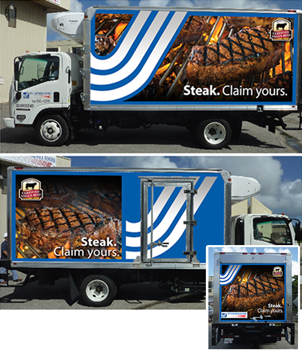 Angus Beef Truck Wrap